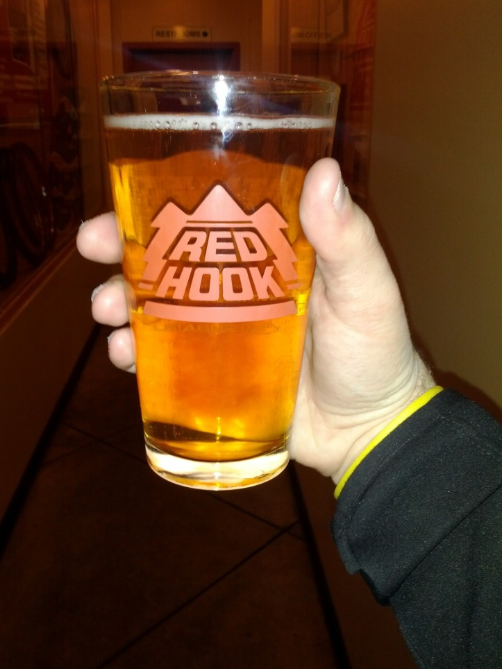 Copperhook Ale... and my hand.